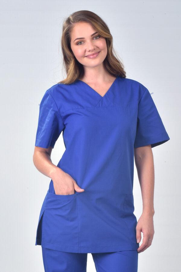Blue Samoa Short Sleeve Scrub Tunic Top